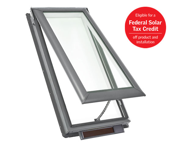 Solar Fresh Air Skylight - Eligible for a Federal Solar Tax Credit off product and installation